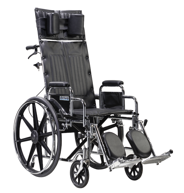 18 Seat.png Sentra Reclining Wheelchair Detachable Desk Arms